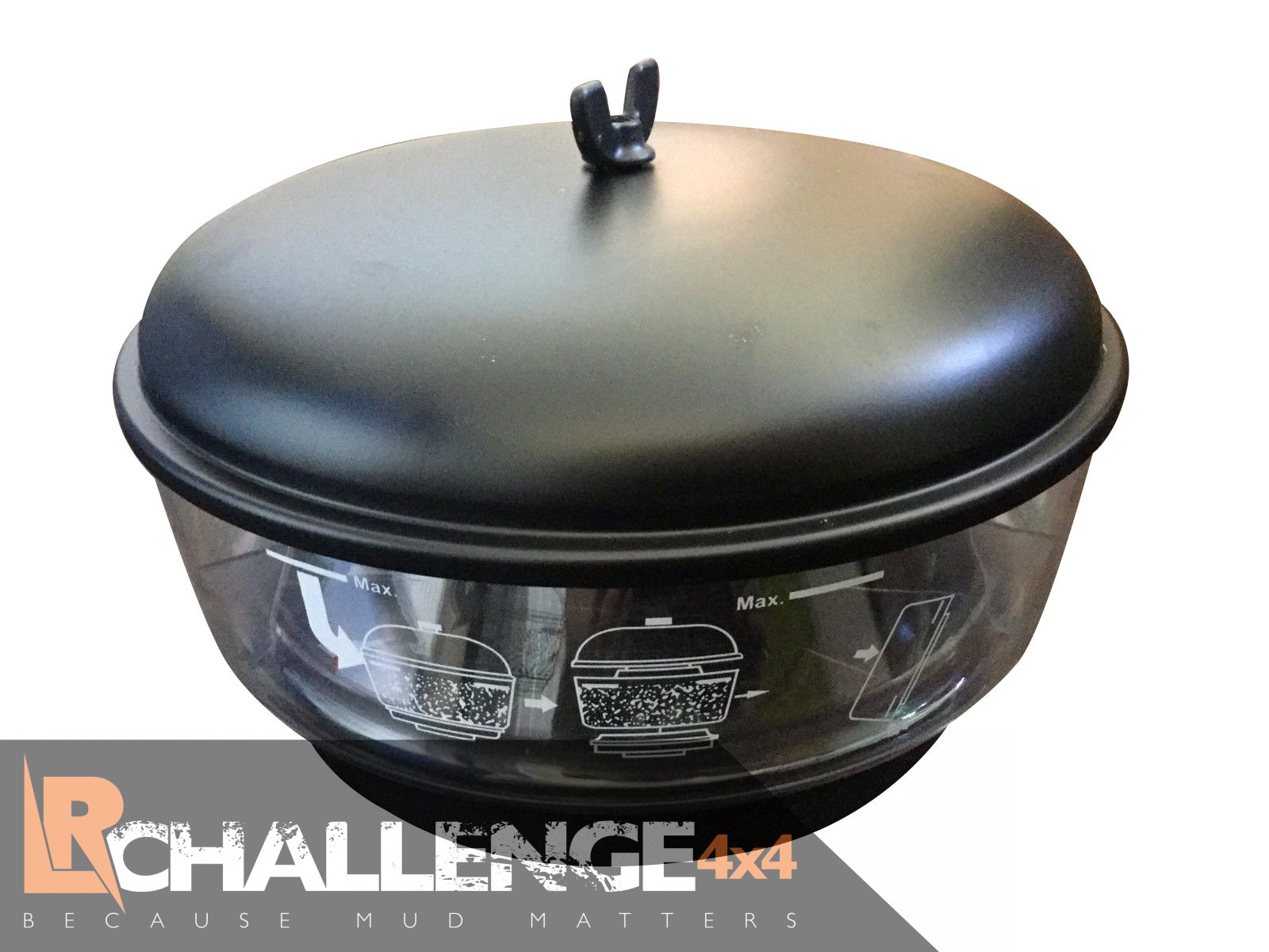 "Toyota Round Rock >> 3.5"" Large 12"" Cyclone Pre filter Snorkel Top - LR Challenge"
