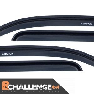 Wind Deflectors to fit Volkswagen Amarok Lettering 2009 onward