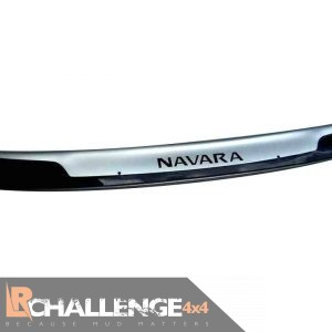 Bonnet Guard Bra Silver & Black to fit Nissan Navara NP300 2016-Onward