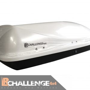 Aerodynamic 460 Ltr White Universal Roof Top Box