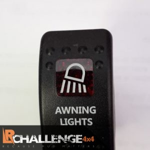 Incar LED Light bar Rocker switch Awning Lights Back lit Red CE approved