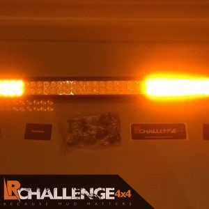 52″ Flat amber beacon LED Custom Light Bar 2 colour white and orange strobe 12v 24v recovery etc