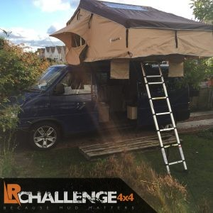 Extra Large 4 Man Roof Tent 75mm Mattress, Ladder, Mounting bars fit any Car / van / 4×4