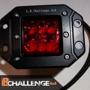 18 watt flush fit LED light Red Rear universal fitment fog