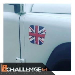 Union Jack coloured Side Air vent to fit Land Rover Defender 300 TD5 TD4 Puma aluminium