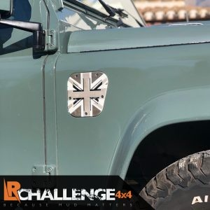 Union Jack black grey Side Air vent to fit Land Rover Defender 300 TD5 TD4 Puma aluminium