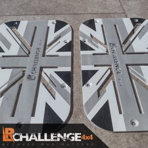 Grey Union Jack wing top Air vents to fit Land Rover Defender aluminium