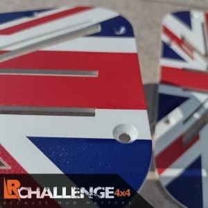 Union Jack wing top Air vents to fit Land Rover Defender 300 TD5 TD4 Puma aluminium