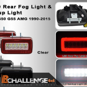Smoked clear LED Rear Fog Reverse lights to Fit Mercedes G Wagon W463 G500 550 55 AMG 86-15