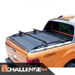 Black heavy duty Roller cover with lock to fit Ranger T7 T8 2016-2021 Wildtrak limited raptor