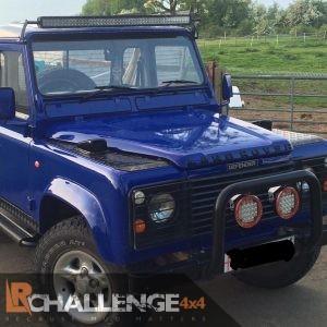 "52"" LED Light Bar Brackets Custom to Fit Gutters of Land Rover Defender"