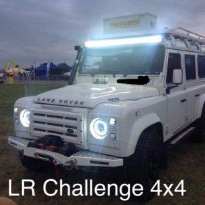 7″ LED Headlights Black Halo DRL to fit Land Rover Defender & Jeep Wrangler TJ JK