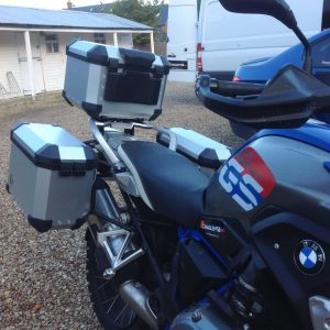 Touring Panniers rigid inc Top Box & Racking to Fit BMW R1200GS 2013 onwards+NEW 1250 models too