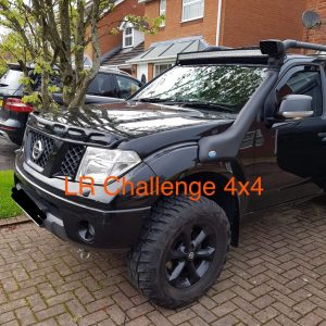 Bonnet Guard Bra Gloss Black to fit Nissan Navara D40 2006-2010