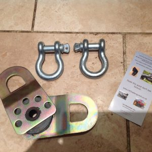 x2 Large D Shackles & x1 Snatch Block Heavy Duty Recovery Kit