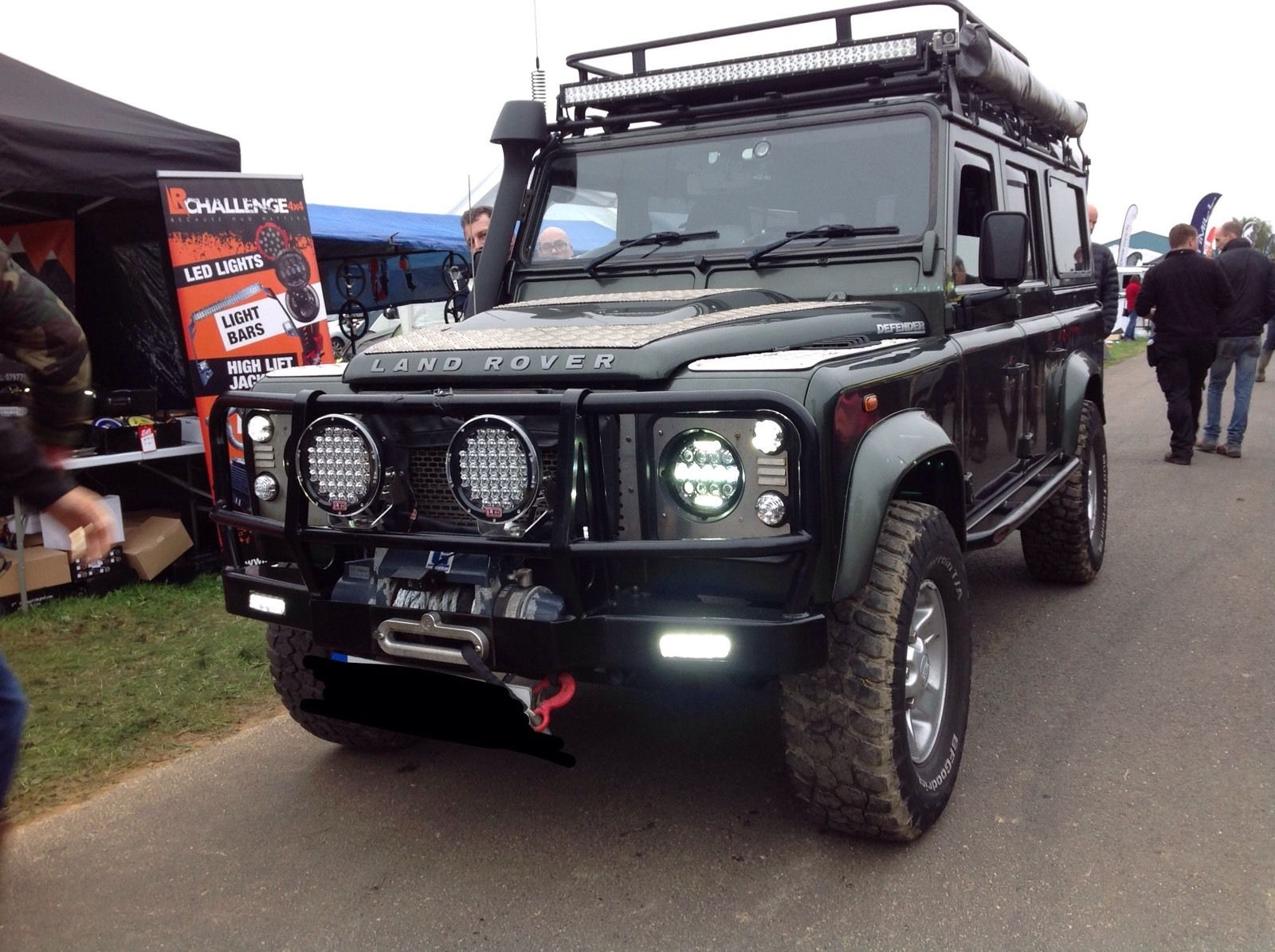Land Rover Defender Upgraded Bearmach Smoked Led Side