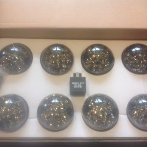 land rover defender Upgraded Bearmach Smoked LED Side Light Kit Relay 8 Piece