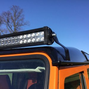 Land Rover Defender 50'' Led Light Bar Brackets Custom Made Fit Onto Gutters,