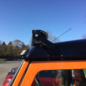 Land Rover Defender Led Light Bar Brackets Custom Made 52'' Fit Onto Gutters,